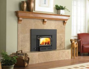 What are fireplace inserts portland or american for Wood stove insert for prefab fireplace