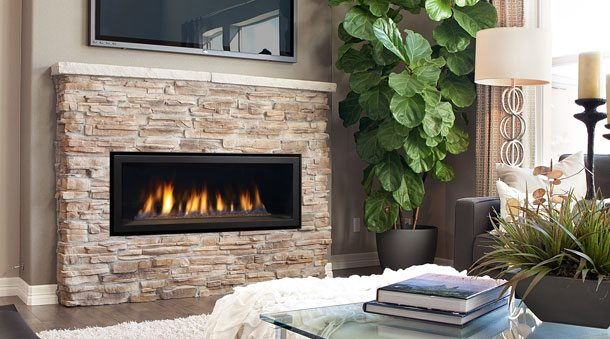 Gas fireplace stove and insert installation portland or for Contemporary fireplace insert